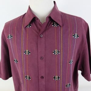 Nat Nast Large Embroidered Silk Camp Shirt S/S
